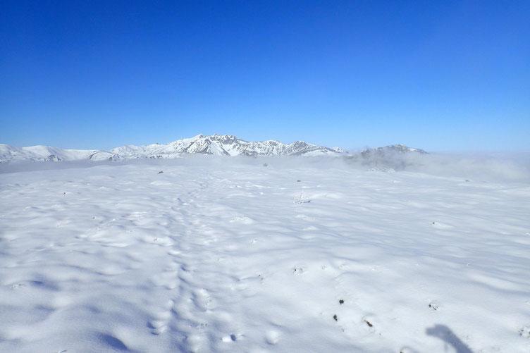 Le Cap d'Aout. La zone est assez plate et j'ai retrouvé les rayons du soleil...