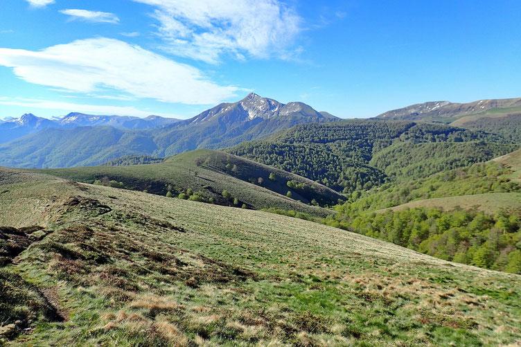 Du Lepotxipia, vue sur le Pic d'Orhy.