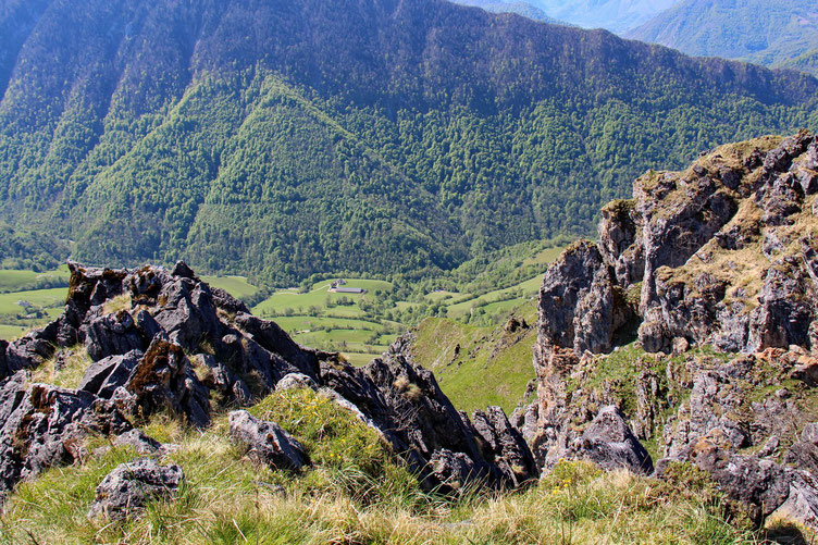 Le vallon qui monte jusqu'au Col de Marie-Blanque.