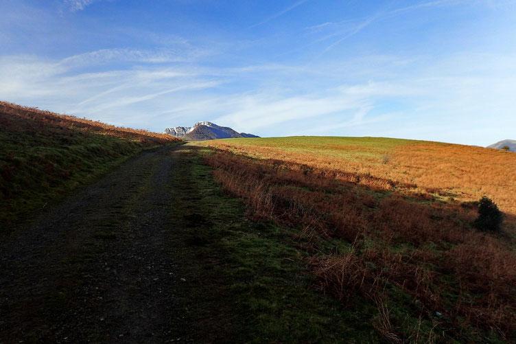 Toujours le Pic d'Orhy, et le petit mamelon à droite où je vais m'arrêter pour un petit casse-croute...