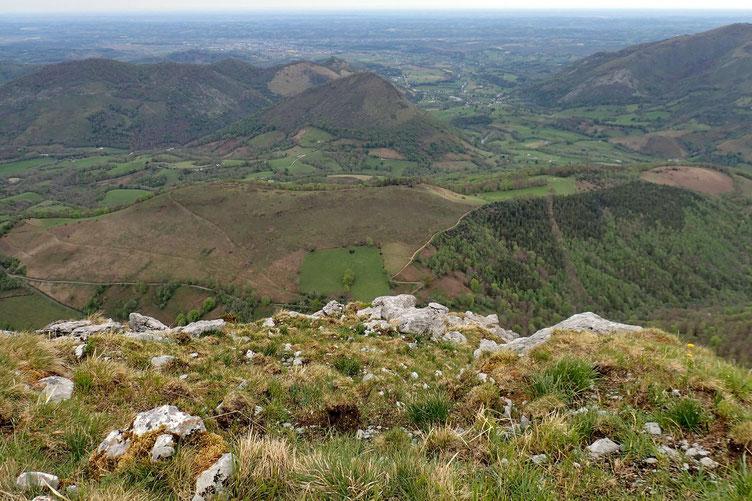 Vers le Col de Boucoig, lieu du départ de la rando.