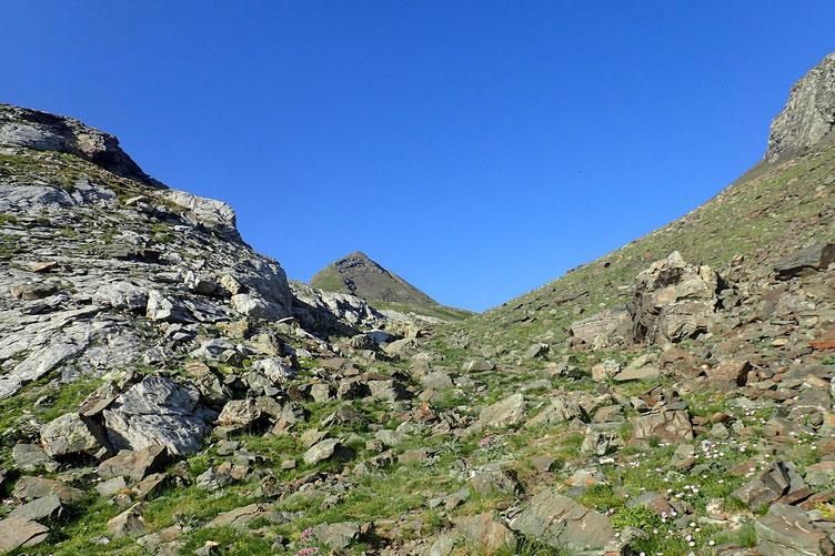 En route vers le Col de Cardal... toujours avec la vue sur l'objectif.
