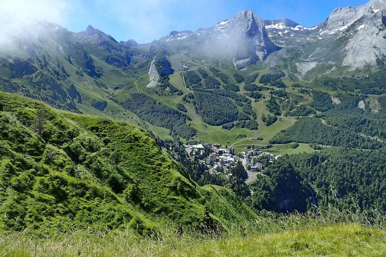 Gourette et son (petit) domaine skiable.
