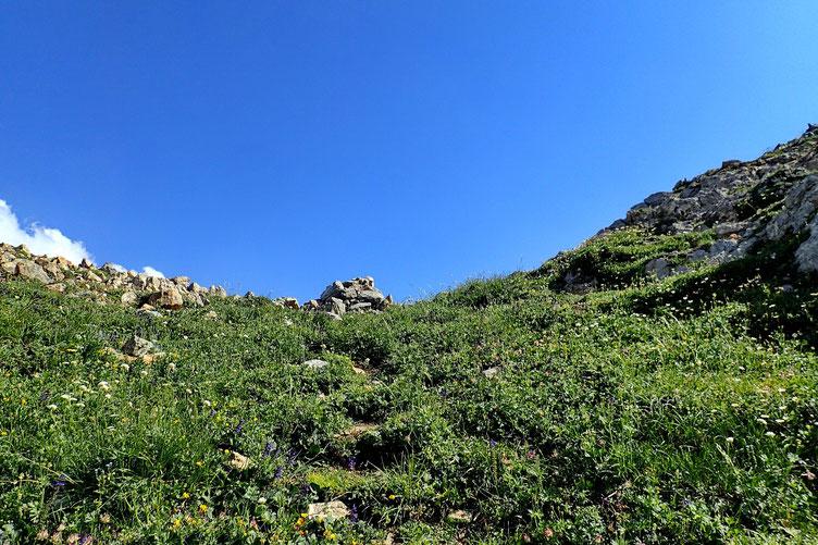 Après presque 1 heure d'effort, j'arrive au Col de Laraille (2011m).