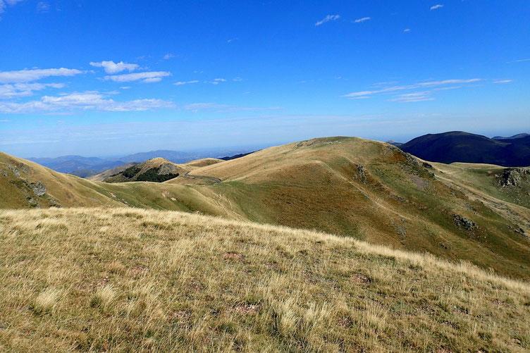 Ces montagnes très vallonnées sont assez reposantes.