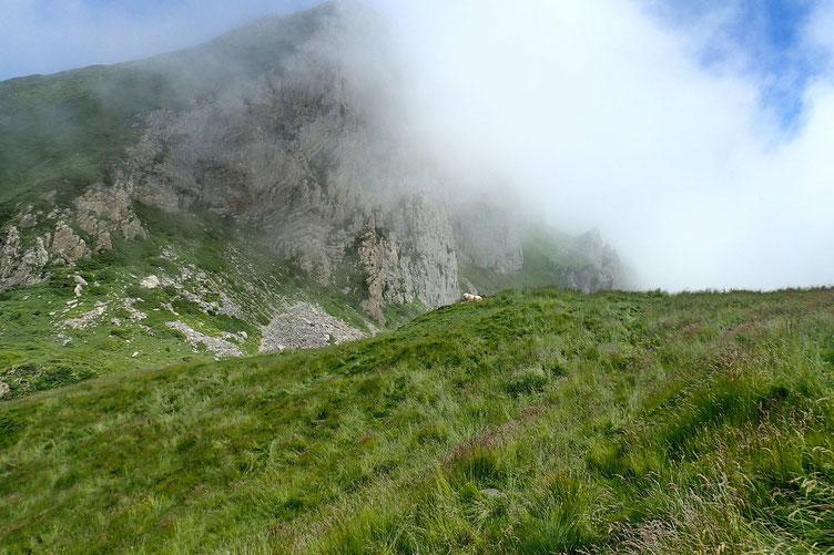 Je quitte le Col d'Arbaze...