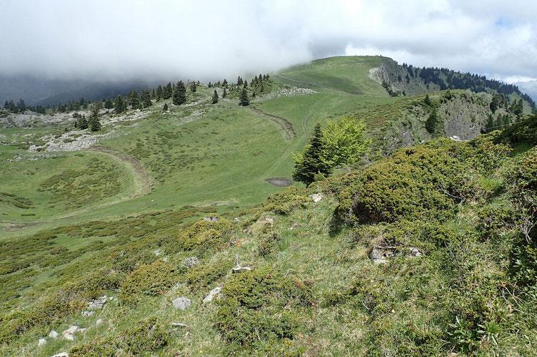Le Mont Mérac est décidement bien enbrumé! Pas de regrets.