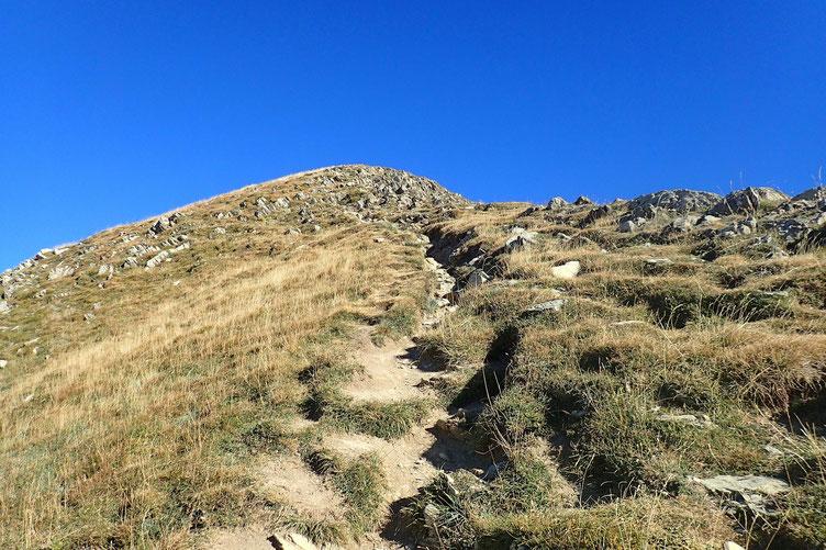 A l'approche du sommet, où plutôt de la zone sommitale...