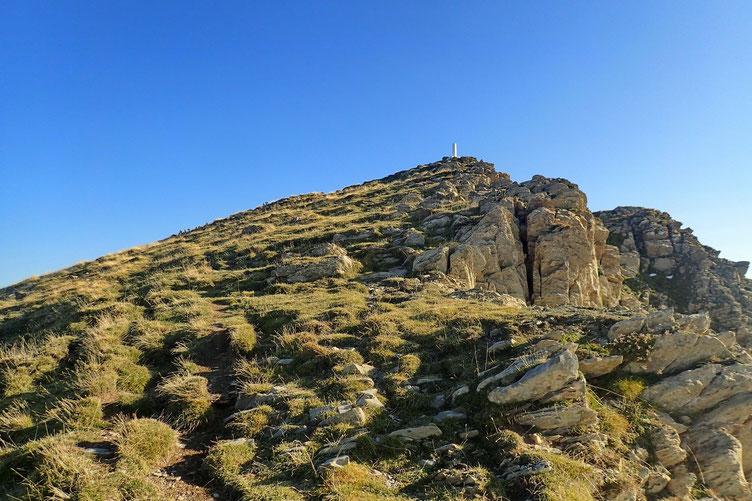 Les derniers mètres avant d'arriver au sommet.
