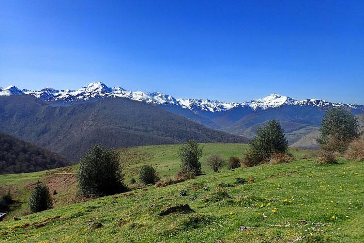 Et avec une vue superbe sur les sommets enneigés.