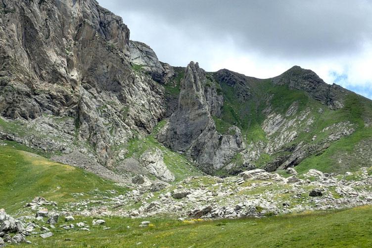 Voilà la paroi escaladée par les deux grimpeurs.