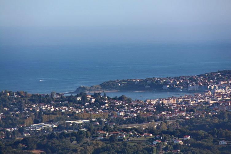 Zoom sur la baie de Saint-Jean de Luz.