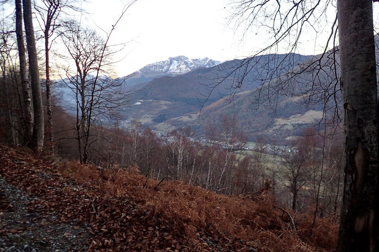 La Vallée d'Aure avec l'Arbizon au fond.
