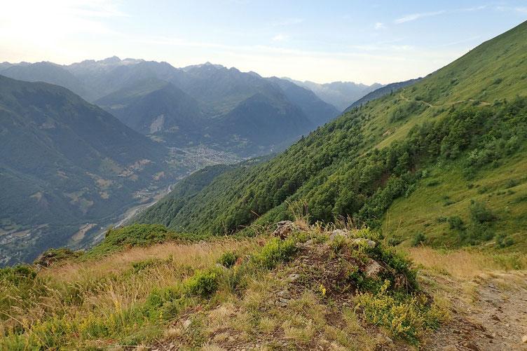 Pendant la montée, vue sur Luz St Sauveur