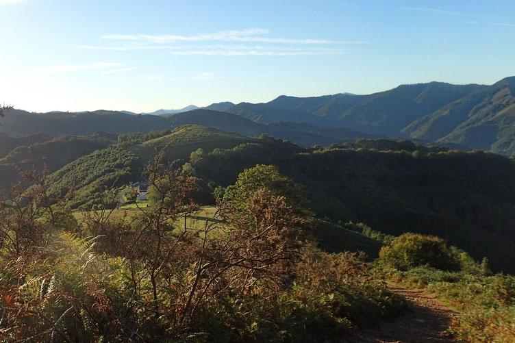 Vue sur le Col de Lizarrieta.