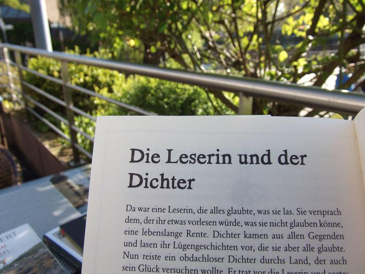 """statt Christoph Simon: der Anfang eines Christoph-Simon-Kunstmärchens, erschienen in """"Viel Gutes zum kleinen Preis"""", bilgerverlag 2011."""