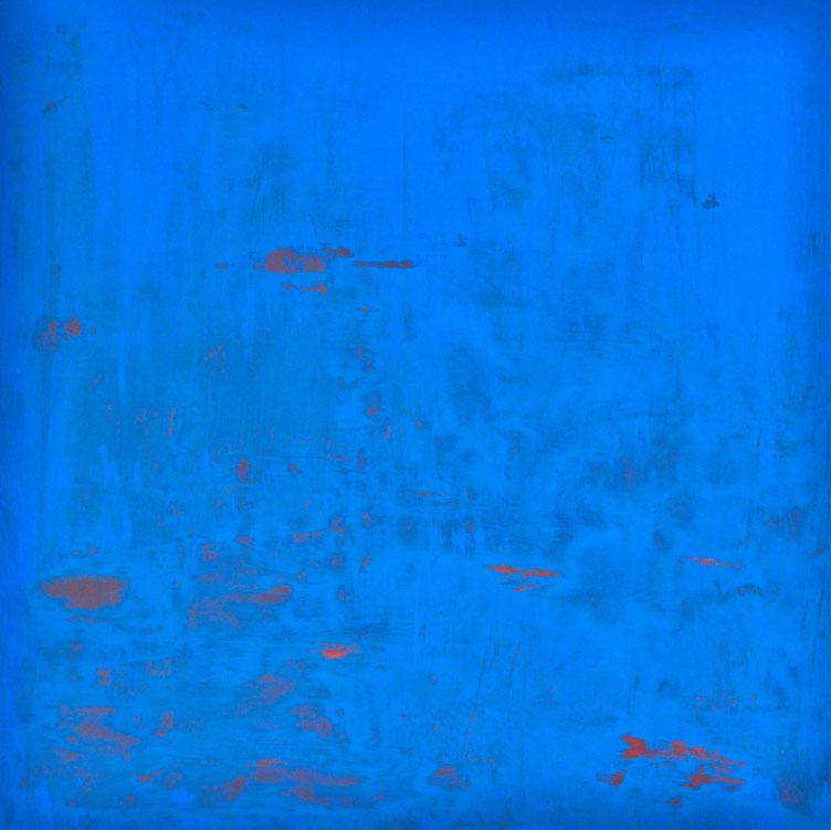 Soft blue .acrilico su tela 100x100.2015  Collezione privata