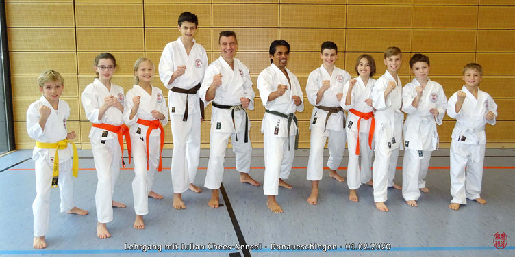 Julian Chees-Sensei, Lehrgang Donaueschingen, Karate Erlach
