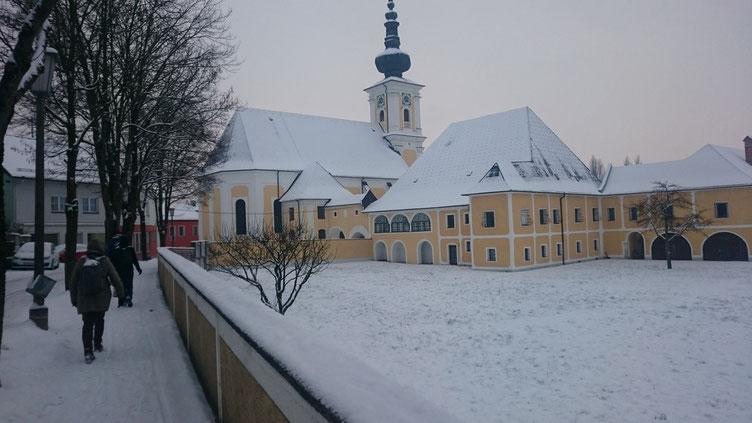 Die Pfarrkirche von Vorchdorf lag am Ende unserer ersten GEH_nuss Tour im Jahr 2016