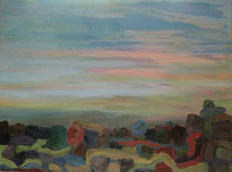 Minéral 2, 2015  Acryl auf Leinwand 60x80
