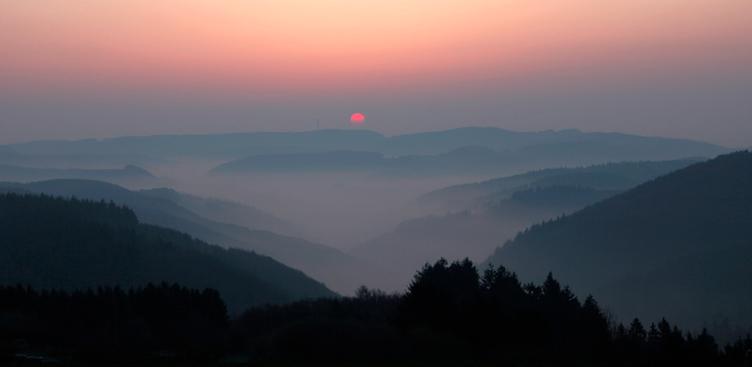 Abendstimmung in der Eifel -  Aufnahme  ©Katrin Röder
