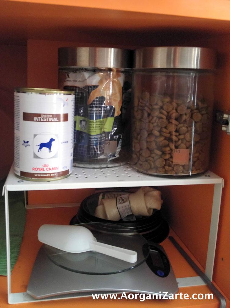 organiza los alimentos de tu mascota - AorganiZarte