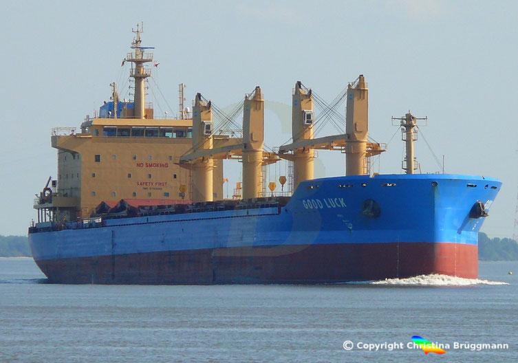 Bulk Carrier GOOD LUCK, Elbe 04.09.2018
