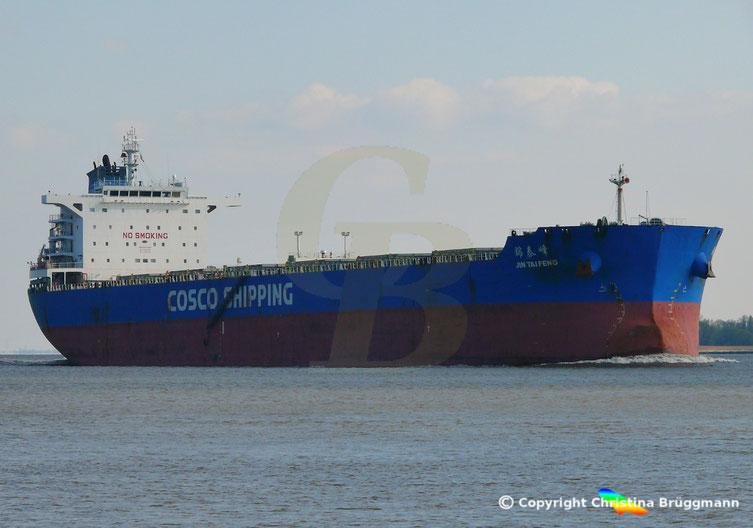 COSCO SHIPPING Bulkcarrier JIN TAI FENG, Elbe 09.04.2019