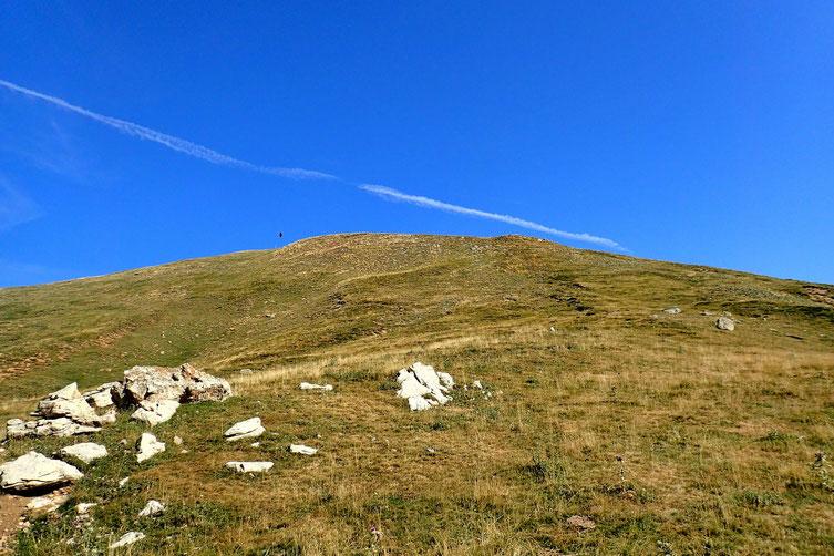 IL n'y a plus qu'à monter cette croupe herbeuse pour atteindre le sommet.