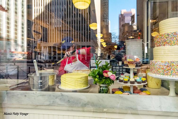 Gourmandises sur le 6ème Avenue, New York, photo non libre de droits