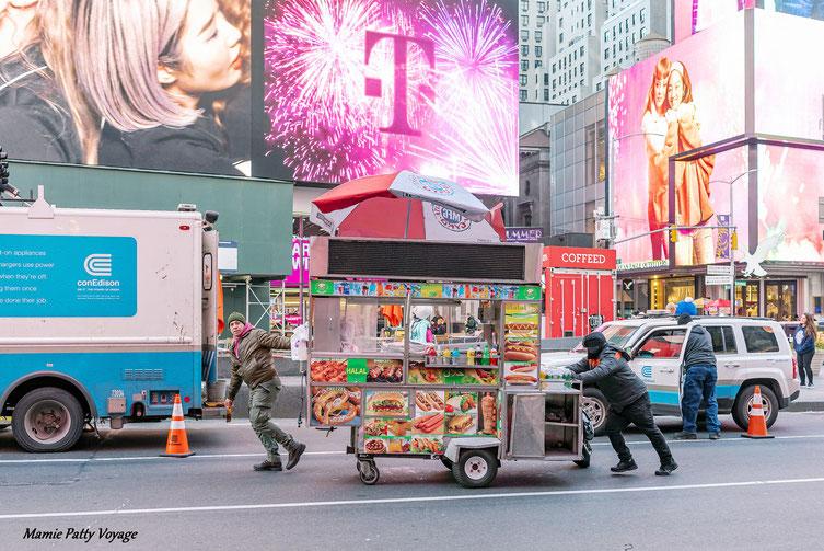 Scène de vie à New York, photo non libre de droits