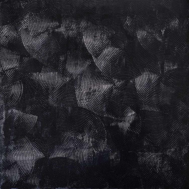 Girandole nere, 100x100 ,Acrilico su tela, 2016