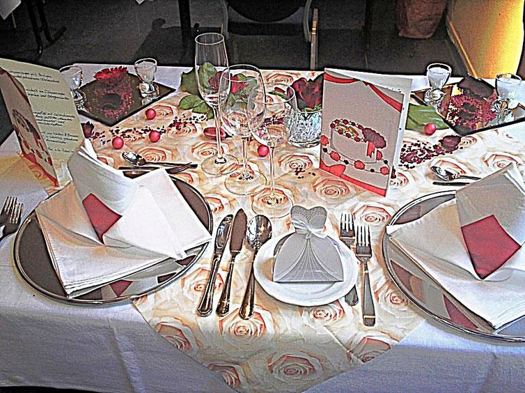Tischdekorationen - Hochzeit