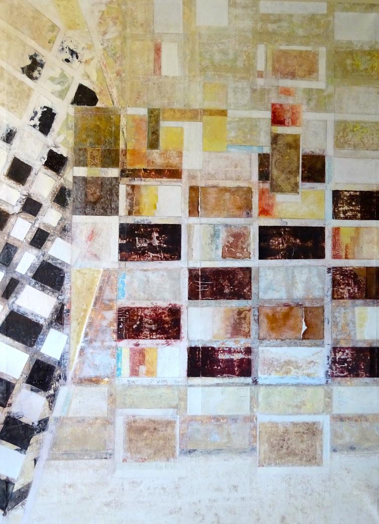 """"""" Desigualdad """" - Acrílico sobre lienzo - 130 x 180 x 4cm"""