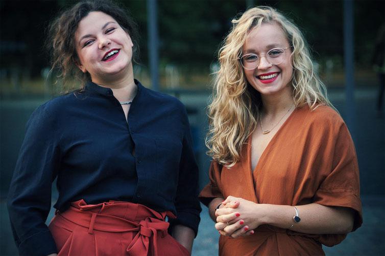 Die Autorinnen Sandra Hofmann und Katharina Gleß (v.l., Bildrechte bei K. Gless)