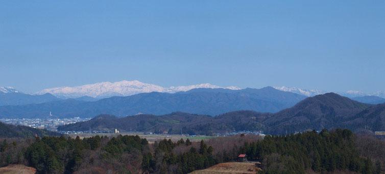 展望台からの白山展望