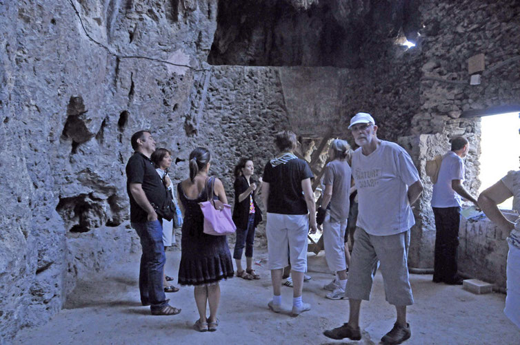visite guidée à la grotte