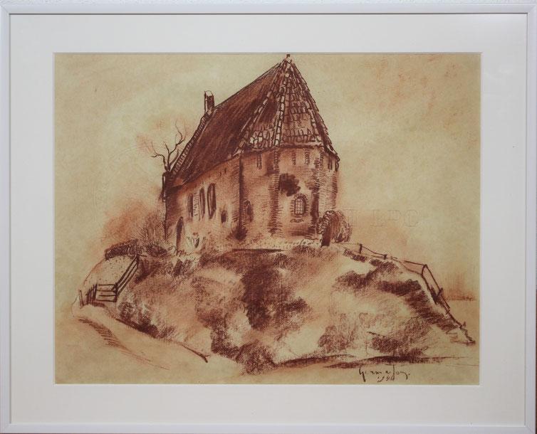 te_koop_aangeboden_een_rood_krijt_tekening_van_de_bergense_school_kunstenaar_germ_de_jong_1886-1967