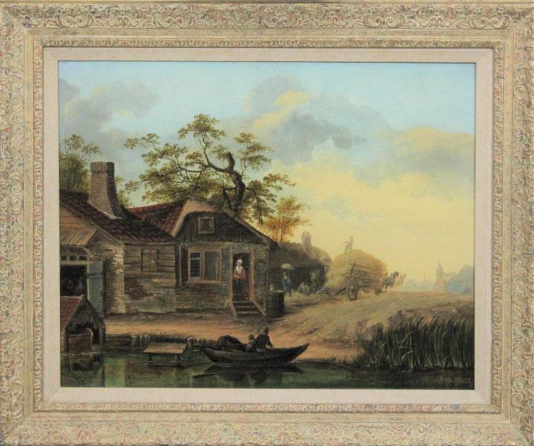 te_koop_aangeboden_een_schilderij_van_de_nederlandse_kunstschilder_albertus_brondgeest_1786-1849