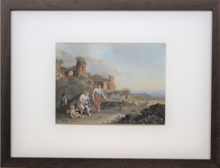 te_koop_aangeboden_een_aquarel_van_de_nederlandse_kunstschilder_bartholomeus_johannes_van_hove_1790-1880