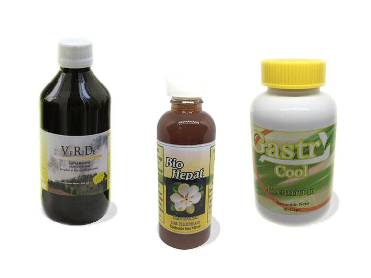 Paquete Depurador con Veride, Bio Hepat y Gastricool Premium
