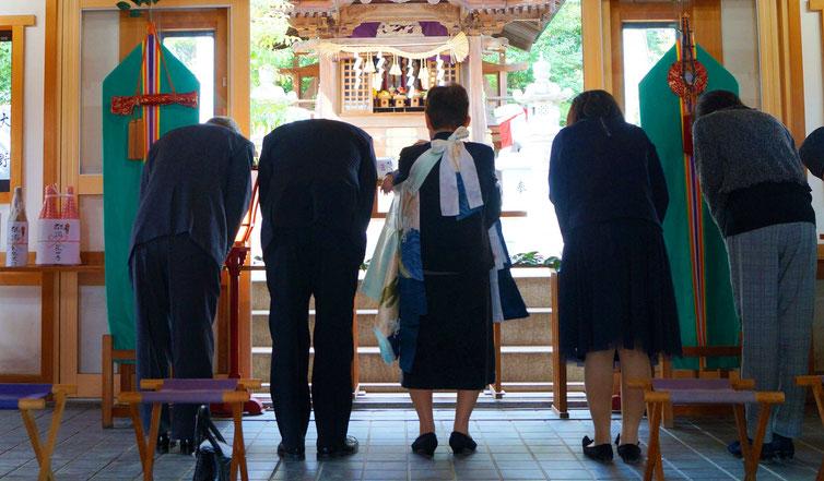 星田神社 お宮参り風景