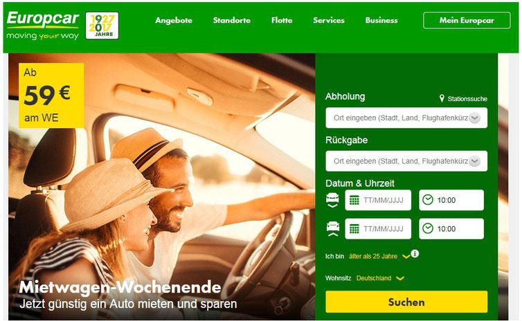 CheckEinfach | Europcar Mietwagen-Wochenende