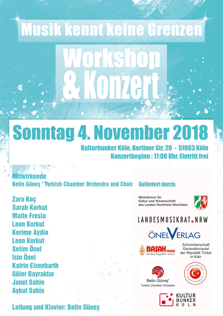 Programmplakat Betin Güneş´ Turkish Chamber Orchestra and Chor