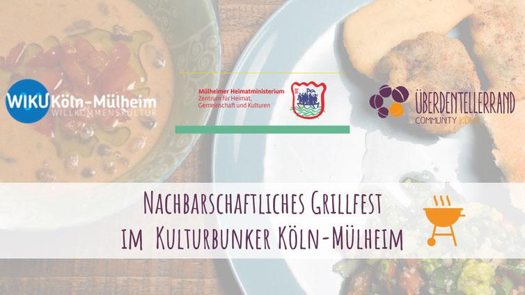 Einladung zum ersten Nachbarschaftlichen Grillfest im Kulturbunker Köln-Mülheim