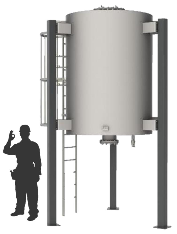 Tanque de remoción de H2S - filtro de carbón activado