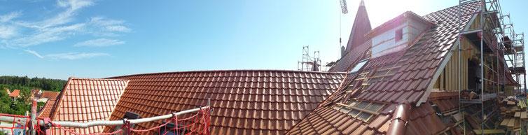 Von uns wurden die Dachdeckungsarbeiten  durchgeführt