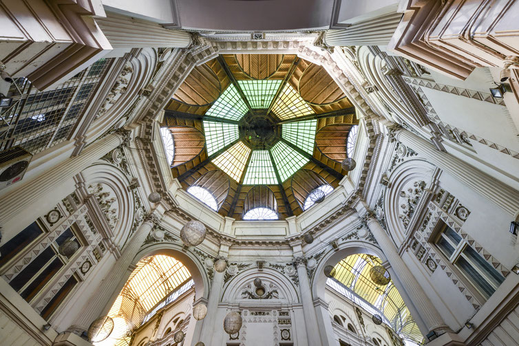 Pasajul Macca-Villacrosse - Blick nach oben. Rumänien Reisebericht
