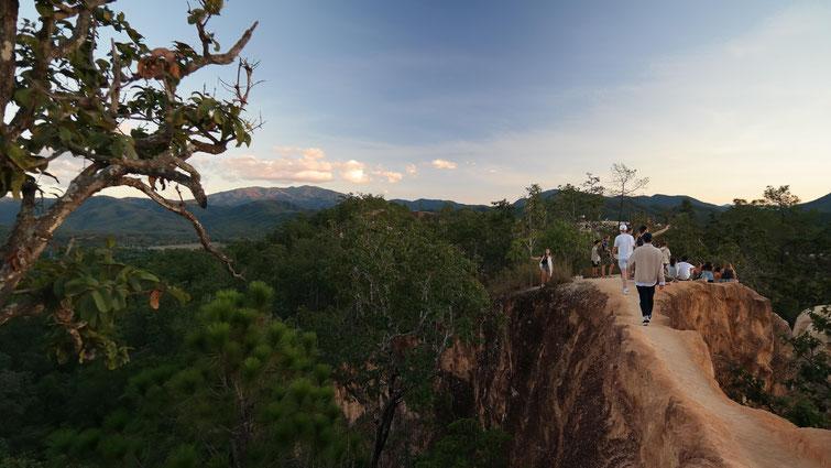 Sonnenuntergang beim Pai Canyon