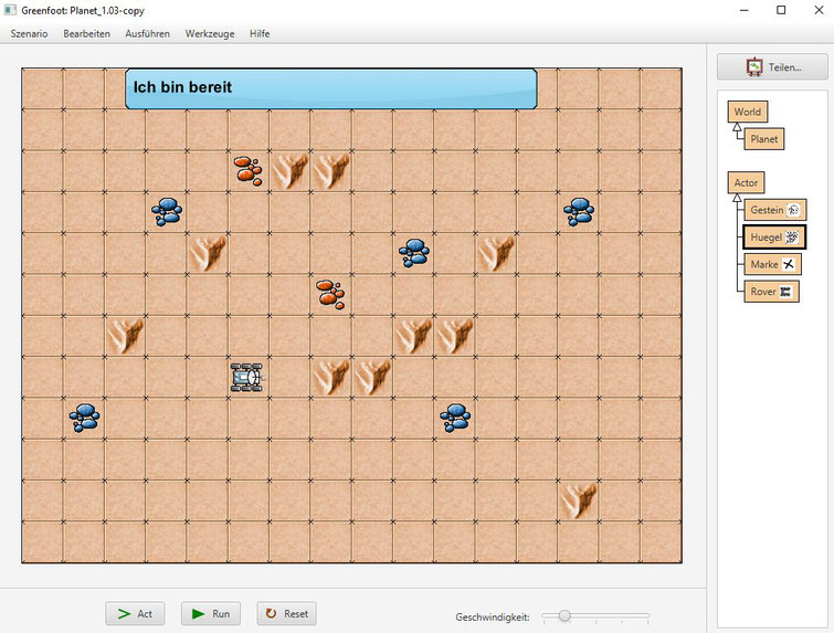 NXC-Programmieroberläche bei LEGO MINDSTORMS